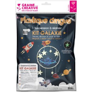 Kit Plastique Dingue Graine Créative - suspension galaxie