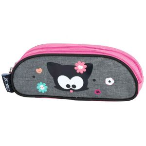 Trousse Scolaire Kid'abord - 2 compartiments - Chacha gris