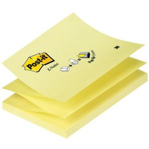 Bloc Post-It Z-Notes - 7,6x12,7 cm - jaune