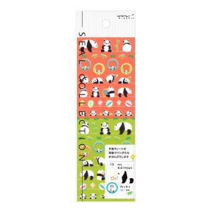 Mini Stickers Midori Seal Collection - pandas