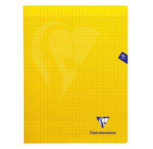 Cahier Clairefontaine Mimesys - 24x32 cm - 96 pages - Séyès - jaune