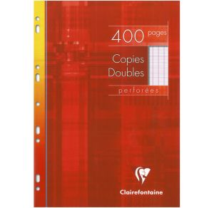 Copies Doubles Clairefontaine - A4 - 400 pages - Séyès - blanc