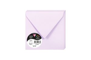 20 Enveloppes Pollen Clairefontaine - 140x140 mm - lilas