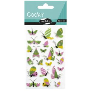 Stickers Cooky Maildor -  papillons