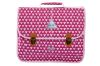 Cartable Scolaire 38 cm Poids Plume - Triangles roses