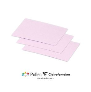 25 Cartes Pollen Clairefontaine - 70x95 mm - lilas