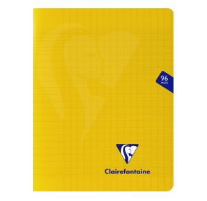 Cahier Clairefontaine Mimesys - 17x22 cm - 96 pages - Séyès - jaune