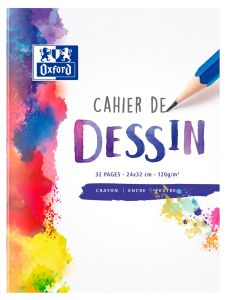 Cahier de Dessin Oxford - 24x32 cm - 32 pages - 120g