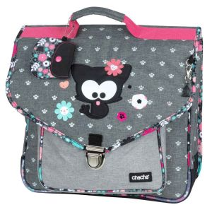 Cartable Scolaire 38 cm Kid'abord - Chacha - gris