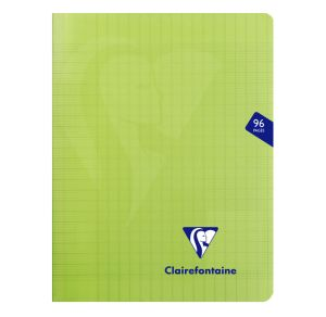 Cahier Clairefontaine Mimesys - 17x22 cm - 96 pages - Séyès - vert