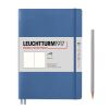 Carnet Leuchtturm souple - 14,5x21cm - Denim - Pages blanches