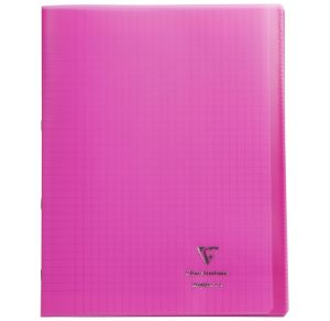Cahier Clairefontaine Koverbook - 24x32 cm - 96 pages - Séyès - rose