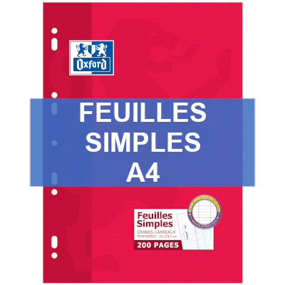 Feuilles-Simples-A4-Fournitures-Scolaires-Papeshop