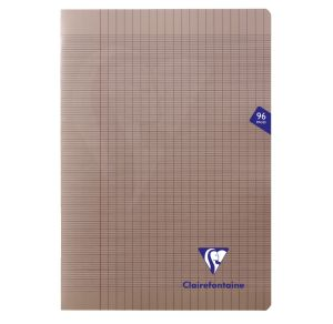Cahier Clairefontaine Mimesys - A4 - 96 pages - Séyès - gris