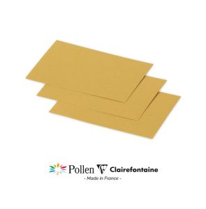 25 Cartes Pollen Clairefontaine - 70x95 mm - or