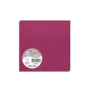 25 Cartes Pollen Clairefontaine - 135x135 mm - framboise
