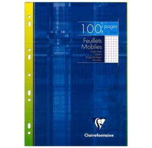 Feuilles Simples Clairefontaine - A4 - 100 pages - petits carreaux - blanc