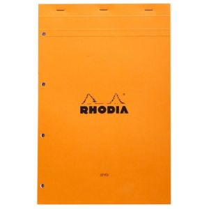 Bloc-Notes Rhodia n° 20 - A4 - 80 feuilles perforées - grands carreaux