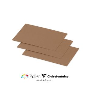 25 Cartes Pollen Clairefontaine - 70x95 mm - kraft