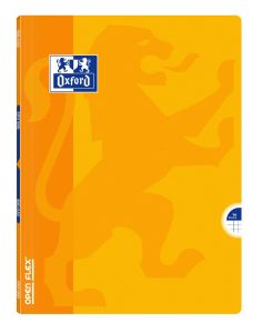 Cahier Oxford open flex - 24x32 cm - 96 pages - petits carreaux - jaune