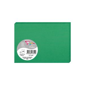 25 Cartes Pollen Clairefontaine - 110x155 mm - vert sapin