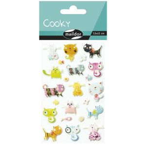 Stickers Cooky Maildor - chats coquets