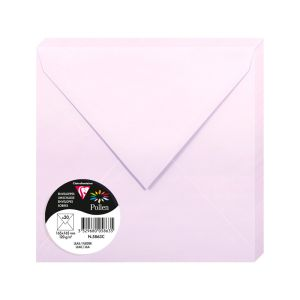 20 Enveloppes Pollen Clairefontaine - 165x165 mm - lilas