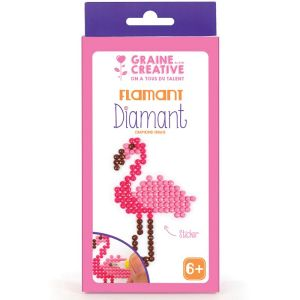 Kit diamond mosaic sticker - flamant rose