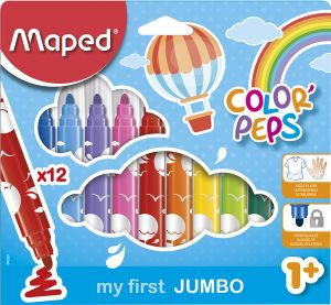 Étui de 12 Feutres Maped color pep's jumbo