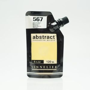 Peinture Acrylique Abstract Sennelier - 120ml - jaune de Naples