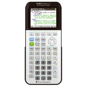 Calculatrice Scientifique Texas Instruments  TI-83 premium ce - Édition Python