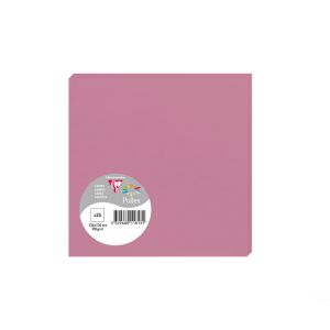 25 Cartes Pollen Clairefontaine - 135x135 mm - rose hortensia