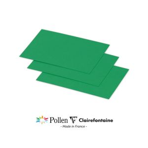 25 Cartes Pollen Clairefontaine - 70x95 mm - vert sapin