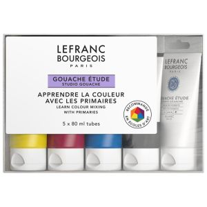 Gouache Colour Lefranc-Bourgeois - 5x80ml - set étudiant