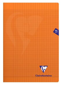 Cahier Clairefontaine Mimesys - A4 - 96 pages - Séyès - orange