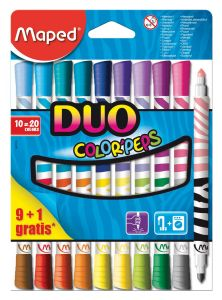 10 Feutres duo (20 couleurs) Maped