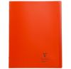 Cahier Clairefontaine Koverbook - 24x32 cm - 96 pages - petits carreaux - rouge
