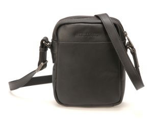 Porte Travers Arthur & Aston - Cuir buffle - Noir
