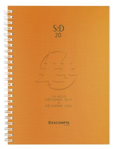Agenda Universitaire Exacompta linicolor - orange