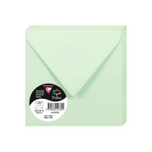 20 Enveloppes Pollen Clairefontaine - 140x140 mm - vert