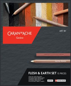 Coffret Artiste Art by Caran d'Ache - tons chair et terre