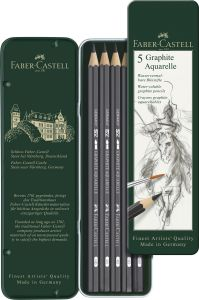 5 Crayons Graphite Aquarellables Faber-Castell