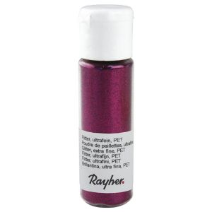 Poudre de Paillettes Ultrafine Rayher - 20 ml - hot-pink