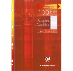 Copies Doubles Clairefontaine - A4 - 100 pages - Séyès - blanc