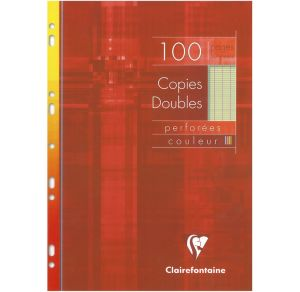 Copies Doubles Clairefontaine - A4 - 100 pages - Séyès - vert