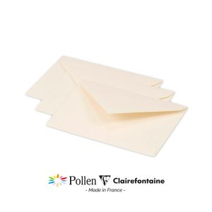 20 Enveloppes Pollen Clairefontaine - 75x100 mm - ivoire