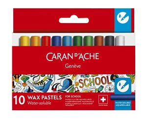 10 demi-pastels aquarellables School Line Caran d'Ache