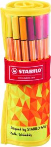 Trousse de 25 Feutres Stabilo Point 88