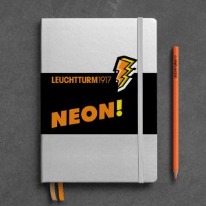 Carnet Leuchtturm rigide - 14,5x21 cm - Neon orange - Pointillés
