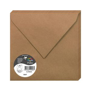 20 Enveloppes Pollen Clairefontaine - 165x165 mm - kraft